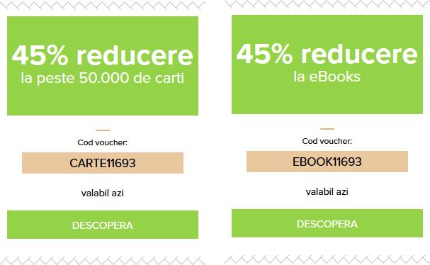 vouchere 45% reducere la cărți