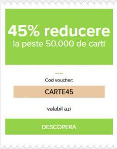 45% reducere la carti
