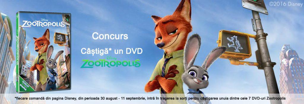 Castiga un DVD Zootropolis